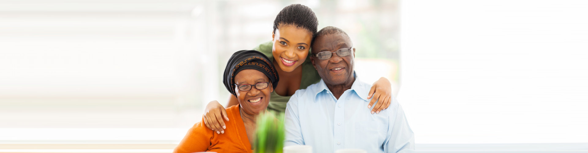caregiver and senior couple